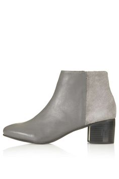 BENNET Suede Mix Ankle Boots - Topshop
