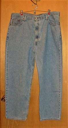 St Johns Bay Men/'s Easy Fit Jeans Light Wash Cotton 34 x 36 36 x 36 Tall NWT