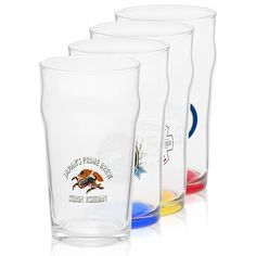 Logo personalized pub glasses