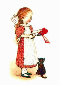 Home made Valentine for My Kitty ~ sarah kay Sarah Kay, Holly Hobbie, Vintage Valentines, Be My Valentine, Toot & Puddle, American Greetings, Vintage Cards, Clipart, Cute Art