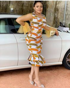 "Today we bring to another interesting topic which is ""Best Ankara Gowns of the Week."" These Ankara gowns are so good and cool. African Fashion Dresses, African Attire, African Wear, African Dress, Fashion Outfits, Latest Ankara Short Gown, Ankara Short Gown Styles, Latest Ankara Styles, Ankara Clothing"
