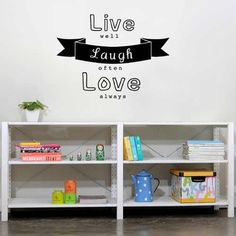 Us 51 25 Off Yoyoyu Wall Decal Live Laugh Love Wall Stickers Waterproof Window Decals Ribbon Decorate Salon Decor Removable In Wall Name Wall Decals, Nursery Wall Decals, Window Decals, Wall Stickers, Baby Bed Canopy, Kids Canopy, Cool Wall Art, Love Wall, Inspirational Wall Decals