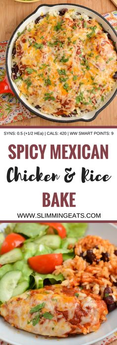 Slimming Eats Spicy Mexican Chicken and Rice - gluten free, Slimming World and Weight Watchers friendly astuce recette minceur girl world world recipes world snacks Slimming World Dinners, Slimming World Recipes Syn Free, Slimming Eats, Slimming World Chicken Recipes, Spicy Recipes, Slow Cooker Recipes, Mexican Food Recipes, Cooking Recipes, Healthy Recipes