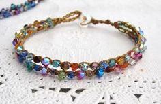 Bead Crochet Tennis Bracelet