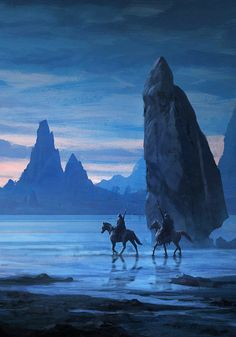 Image from fantasy and syfy..with some cats..NSFW — fantasy-art-engine:   Ride at Dusk by Raphael...