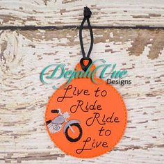 Hey, I found this really awesome Etsy listing at https://www.etsy.com/listing/220660524/ith-live-to-ride-ornament