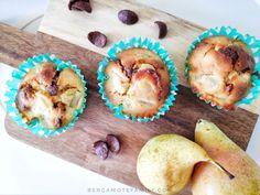 Muffins poire et Chocapic. Remplacer le sucre et le beurre par de l'allégé