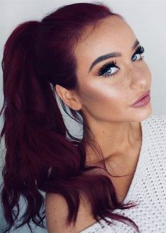 Hair Color Red Maghony Ideas Red Hair red and purple hair Gorgeous Hair Color, Hair Color Dark, Cool Hair Color, Color Red, Pelo Color Vino, Pelo Color Borgoña, Violet Hair Colors, Red Violet Hair, Hair Colours