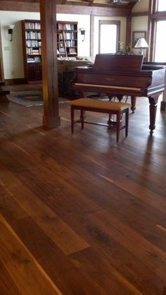 Wide Plank Black Walnut - - wood flooring - atlanta - by Eutree Wide Plank Flooring