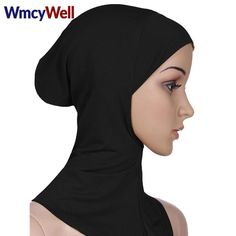 Islamic Turban Head Wear Hat Underscarf Hijab Fashion Full Cover Inner Muslim Cotton Hijab Cap #Hijab fashion