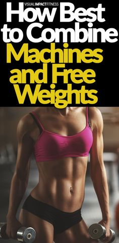 A lot of people believe that free weights are vastly superior to exercise machines. Here's why the biggest benefit may come from combining the two forms of resistance training.  #lifting #liftheavy #workoutmotivation #workout #weighttraining #weightlossbeforeandafter #gymlife