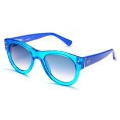 75aa34f805 Loewe: Turquoise Linda Sunglasses (1.285 RON) ❤ liked on Polyvore featuring  accessories,