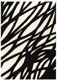 magnifique  tapis design noir et blanc