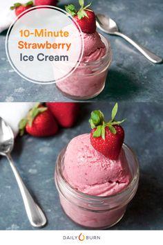 10-Minute Vegan Strawberry Ice Cream Recipe