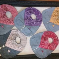 New colors in my Western Style Baby Bibs section!