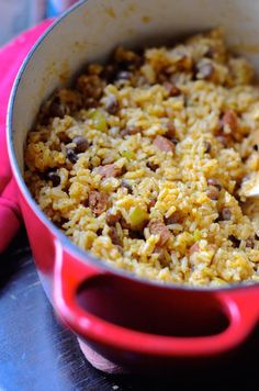 Best recipe for Puerto Rican-style Arroz con Gandules (rice with pigeon peas).