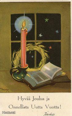 Martta Wendelin Vintage Christmas Cards, Retro Christmas, Christmas Images, Christmas Greeting Cards, Vintage Cards, Christian Christmas Cards, Childrens Christmas, Winter Art, Scandinavian Christmas