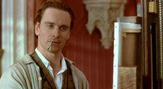 "Michael Fassbender as Esmè in ""Angel"" (2007)"