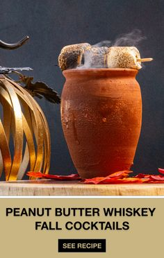 Sweater weather calls for something steamy. The OB Bonfire, featuring our signature Skrewball Peanut Butter Whiskey, wil Whiskey Mixed Drinks, Whiskey Shots, Whiskey Cocktails, Fall Cocktails, Fall Drinks, Whiskey Recipes, Vanilla Milkshake, Mexican Chocolate, Halloween Drinks