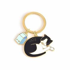 KEYCHAIN CAT FOR WOMEN FASHION KEY RING TO ACCUMULATED BOLD MEMORIAL