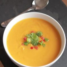 Butter free, this sweet potato, garlic and chilli soup is ideal for vegans or just soup lovers alike. Filling and giving you more than your daily recommended amount of vitamin A, its just full of delicious flavours from naturally sweet ingredients.