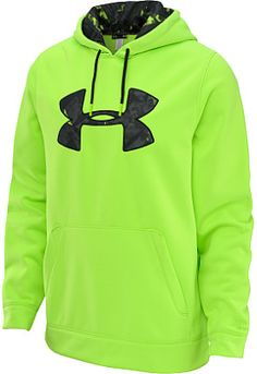 #giftofsport UNDER ARMOUR Men's Armour Fleece Storm Printed Big Logo Hoodie