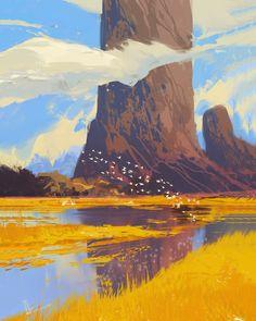 ArtStation - Rocks and River, Amir Zand