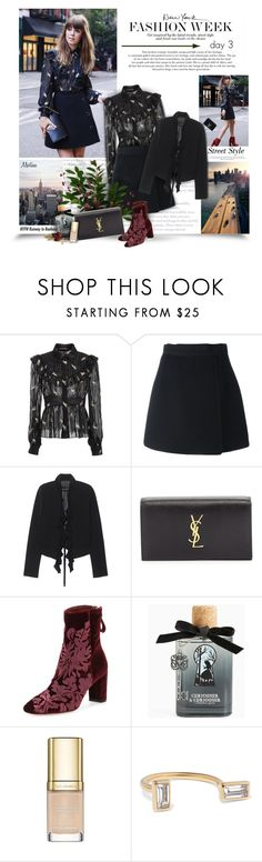 """""""NYFW Day3"""" by thewondersoffashion ❤ liked on Polyvore featuring Jill Stuart, Dolce&Gabbana, Plein Sud, Yves Saint Laurent, Alexandre Birman, Torrid and Elizabeth and James"""