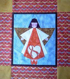 Larkspur Lane Designs: angel quilt. paper pieced angel block