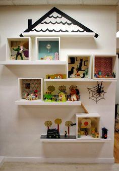 ikea hack / via mommo design. Ikea Kids, Toy Display, Shelf Display, Kid Spaces, Kids Decor, Girl Room, Diy For Kids, Kids Bedroom, Room Inspiration