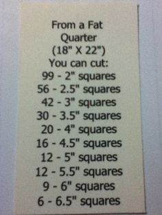 From a Fat Quarter-Great to pin just for reference..                                                                                                                                                                                 More