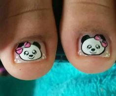 T Pretty Toe Nails, Pretty Toes, Nail Art For Kids, Manicure, Hello Kitty Nails, Toe Nail Designs, Toe Nail Art, Lily, Tattoos