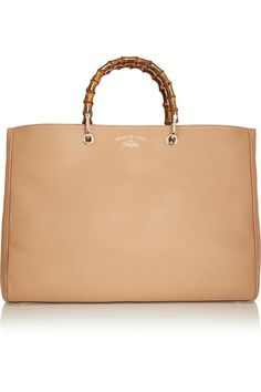 Gucci|Bamboo Shopper large textured-leather tote|NET-A-PORTER.COM