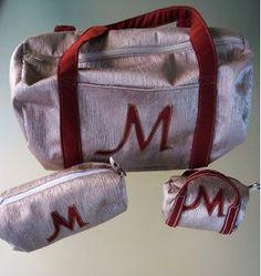 Easy Duffle Bag Set | AllFreeSewing.com  Nice one