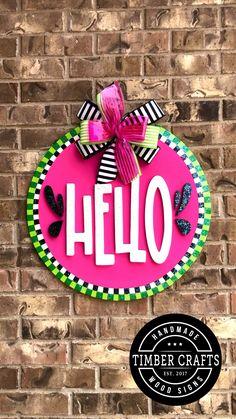 Wooden Door Signs, Front Door Signs, Wooden Door Hangers, Front Door Decor, Wreaths For Front Door, Front Porch, Wood Signs, Porch Signs, Wooden Crafts