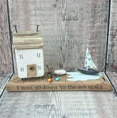 Check out this item in my Etsy shop https://www.etsy.com/uk/listing/547385557/beach-house-driftwood-art-wood-house