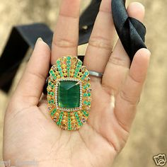 #Solidgold #Diamond #Emerald #ring #Gemstone #Giftforher #jewelry #jewellery #fine