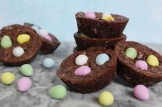 Mini Brownie Bites, Brownie Bites Recipe, Brownie Recipes, 2 Bite Brownies, Mini Brownies, Big Chocolate, Melting Chocolate, Yummy Treats, Sweet Treats