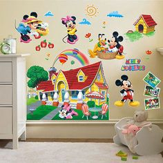 Mickey Mouse Clubhouse 3D Wall Decals Sticker Kids Nursery Decor Mural Vinyl sup