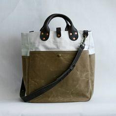 Garrison Bag (Natural/Sage)