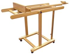 the Mont marte Tilting Studio Easel is an extremely versatile easel suitable for artists producing large scale art works. The easel has a large tilt range including the ability to tilt completely flat. This feature enables the easel to be used for w Cork Flooring, Flooring Ideas, Floor Easel, Table Easel, Art Shed, Maple Floors, Large Scale Art, Art Easel, Drafting Desk