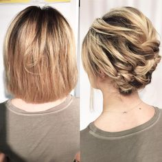 25 Cute Short Hairstyle with Braids - Braided Short Haircuts 25 Jolie coiffure courte avec des tress Short Hair Updo, Short Wedding Hair, Braids For Short Hair, Cute Hairstyles For Short Hair, Bride Hairstyles, Hairstyles Haircuts, Curly Hair Styles, Hairstyles Videos, Trendy Hairstyles