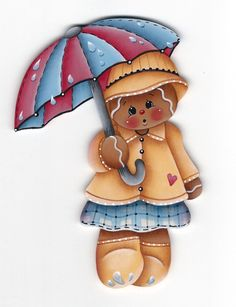 Rainy Day Gingerbread Painting E-Pattern by GingerbreadCuties