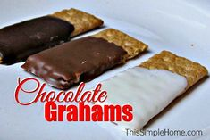 Make your own chocolate-covered graham crackers, inspired by Keebler's Deluxe Grahams. Homemade chocolate grahams are just as delicious and easy to make.
