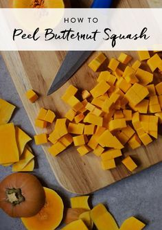It's not Thanksgiving without a tasty side of butternut squash. But peeling it is kind of the worst and the precut kind doesn't have the same flavor. Here's a work-around that's an absolute cinch.