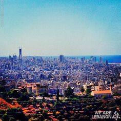 LEBANON,  BEIRUT FROM ROUMIEH