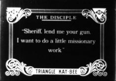 Blank Title Card | Title Cards/Intertitles | Silent film ...