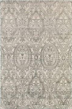 white & black cy, hand-knotted wool,  Madeline Weinrib - Carpets/Tibetan