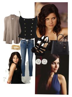Brooke Davis inspired look by thevampirediaries21 on Polyvore featuring Autumn Cashmere, Chanel, Frame Denim, The Limited and Prada