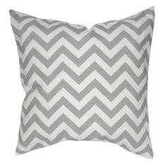 Elisabeth Michael Chevron Gray Throw Pillow | Pure Home